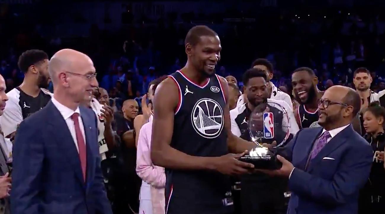 8b9c12a6ddee Kevin Durant named NBA All-Star Game MVP in Team LeBron win