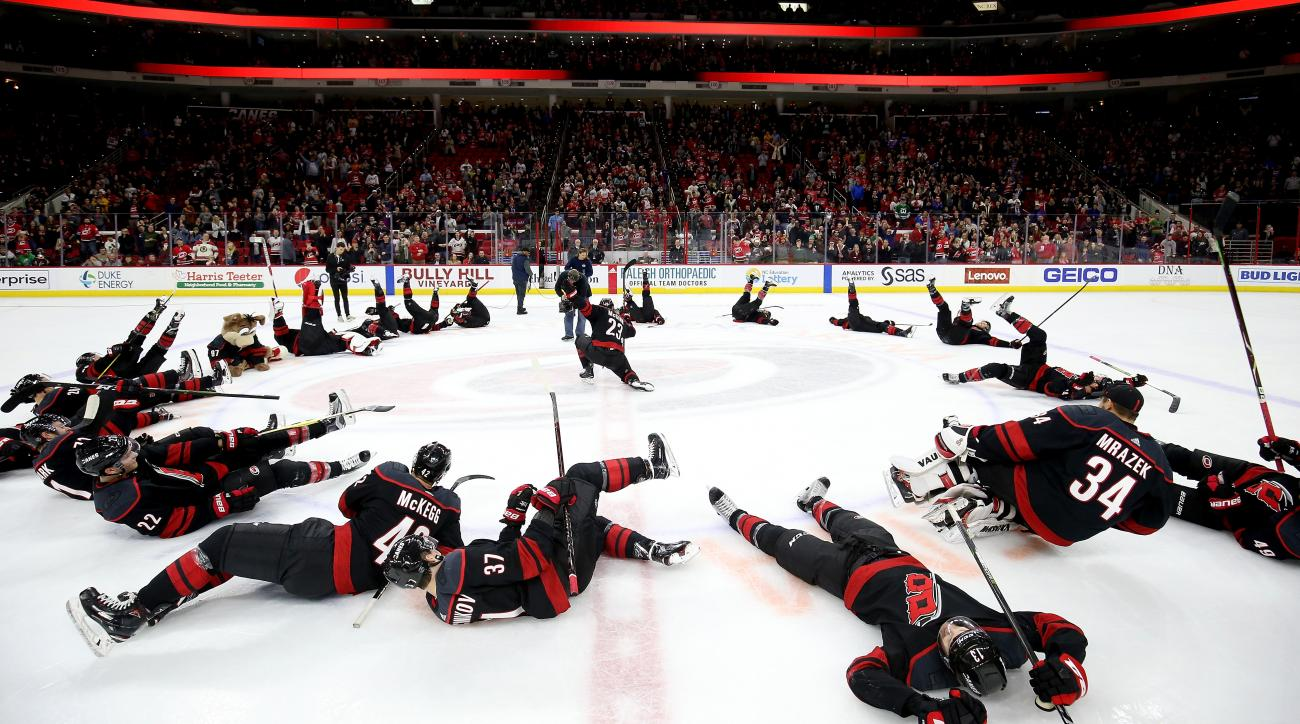 4b8cfada4 Carolina Hurricanes' Storm Surge celebrations ranked | SI.com