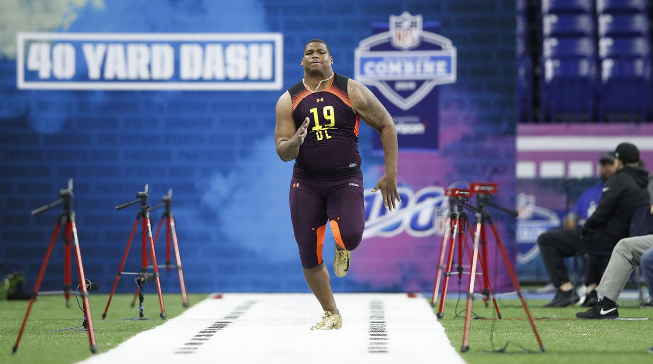 Quinnen Williams Oreos, Quinnen Williams, 40-yard dash, nfl combine, 2019 nfl combine, Quinnen Williams nfl combine
