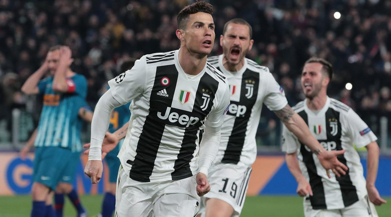 Cristiano Ronaldo nets a hat trick for Juventus vs. Atletico Madrid