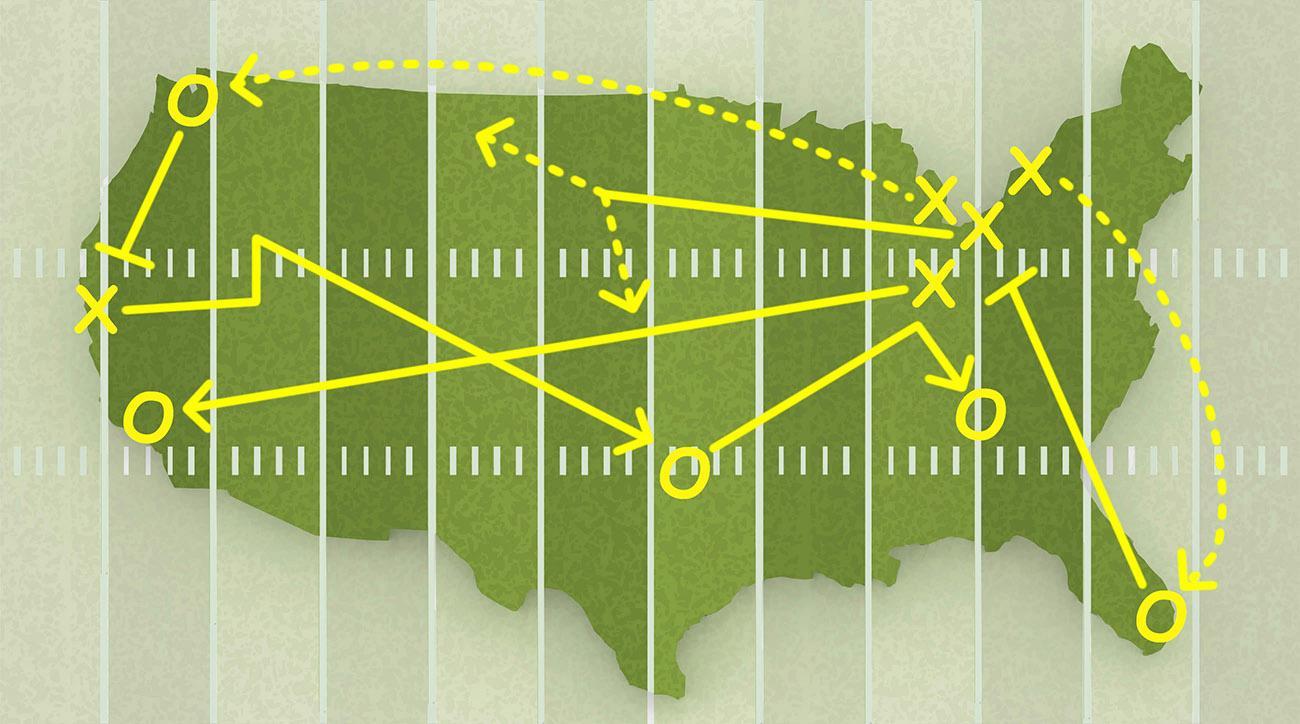 USA map with state border - XXXL