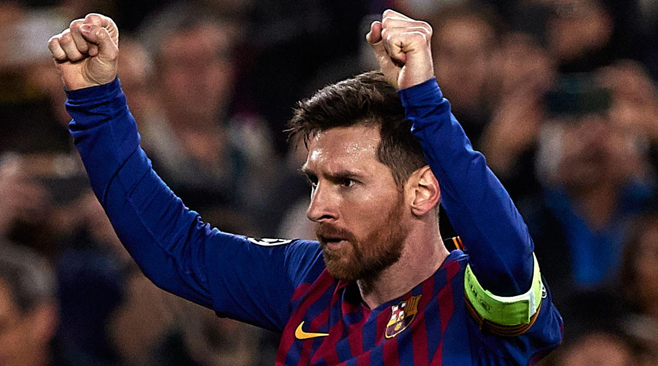 Lionel Messi scores two and assists on two for Barcelona vs. Lyon