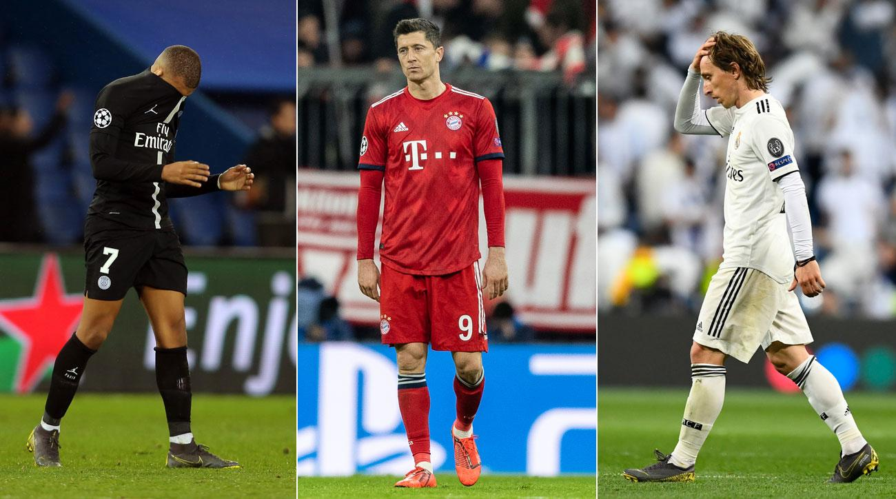 PSG, Bayern Munich and Real Madrid are all out of the Champions League after the round of 16