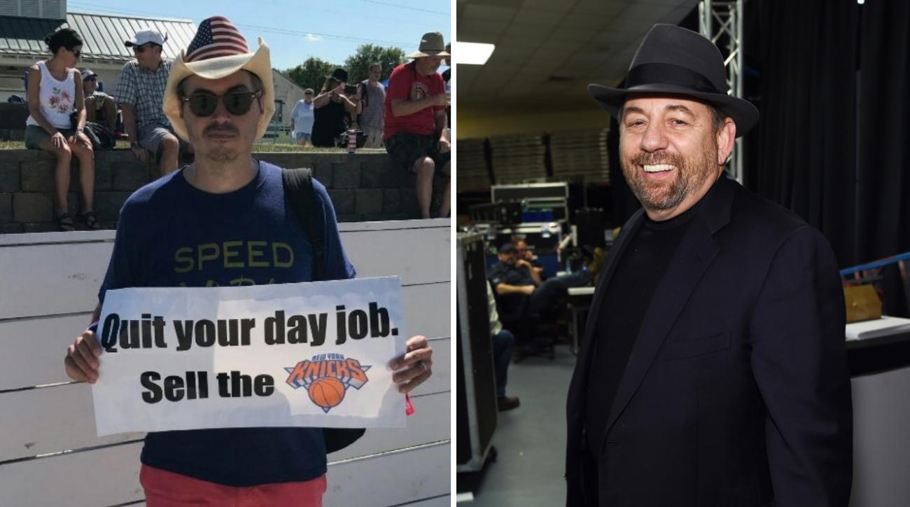 Knicks owner James Dolan yells at fan at music festival (video)