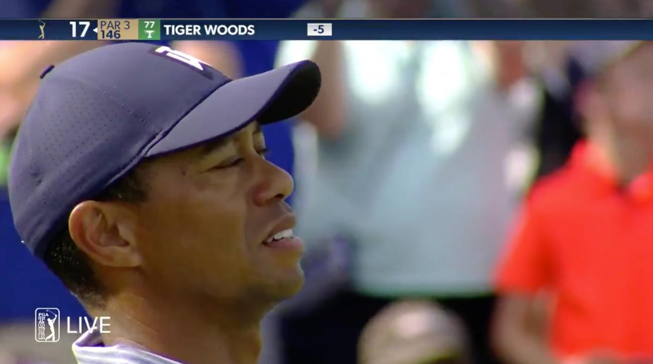 tiger woods quadruple bogey 7 tpc sawgrass 17 island green players championship