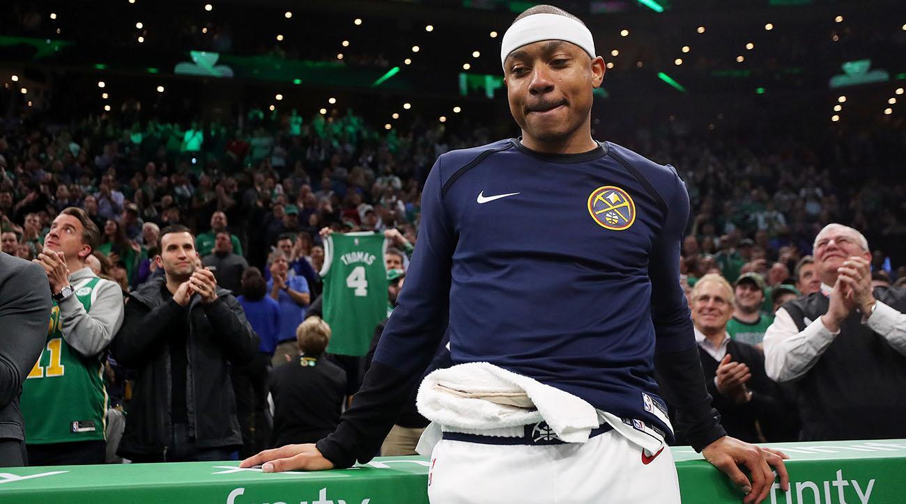 Isaiah Thomas, Isaiah Thomas Celtics, td garden, boston celtics, celtics, denver nuggets, nuggets
