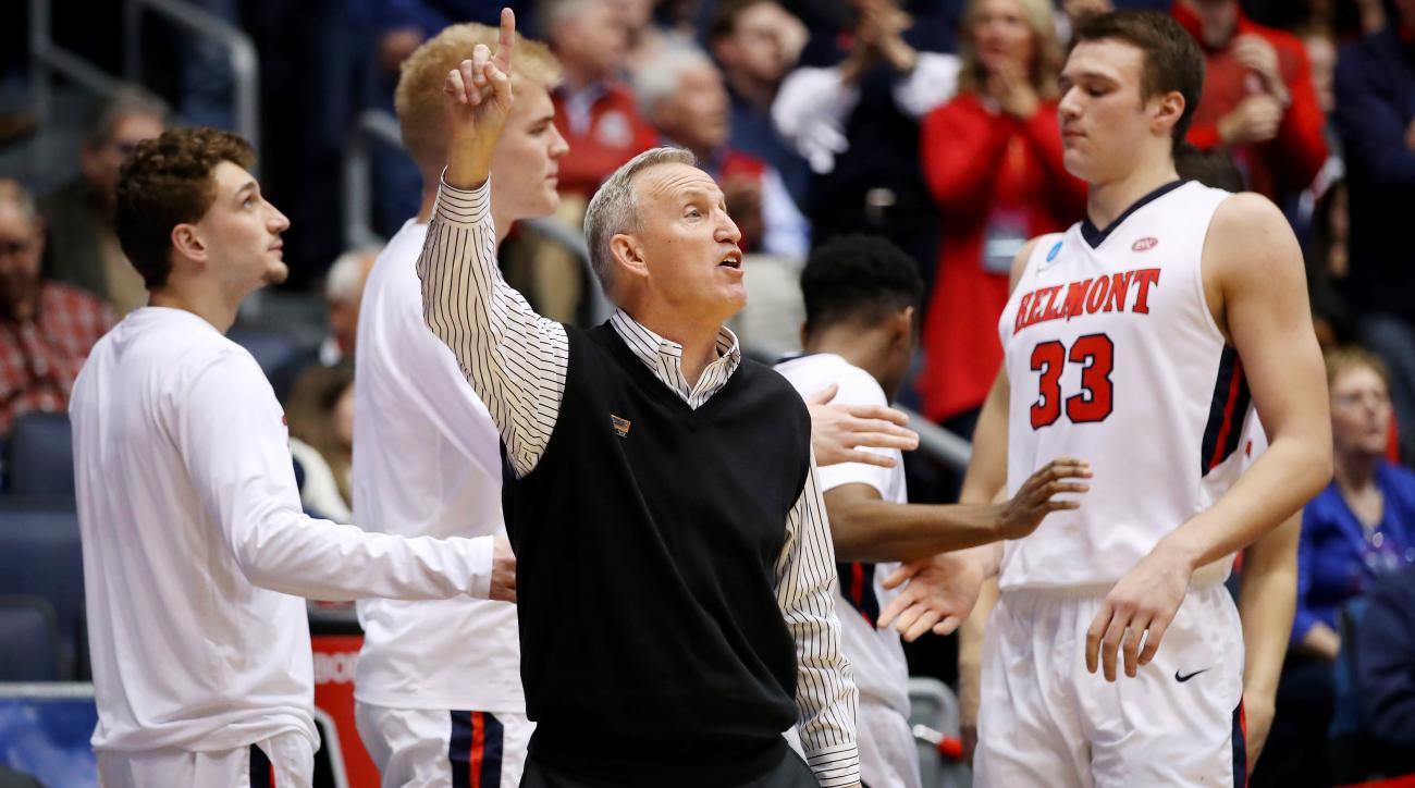 Belmont coach Rick Byrd's 805th career victory is his first ever win in the NCAA tournament
