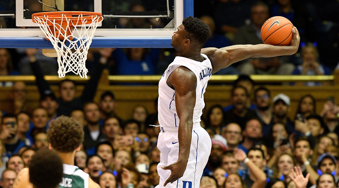 Zion Williamson dunks: Duke star hard to photograph during March Madness