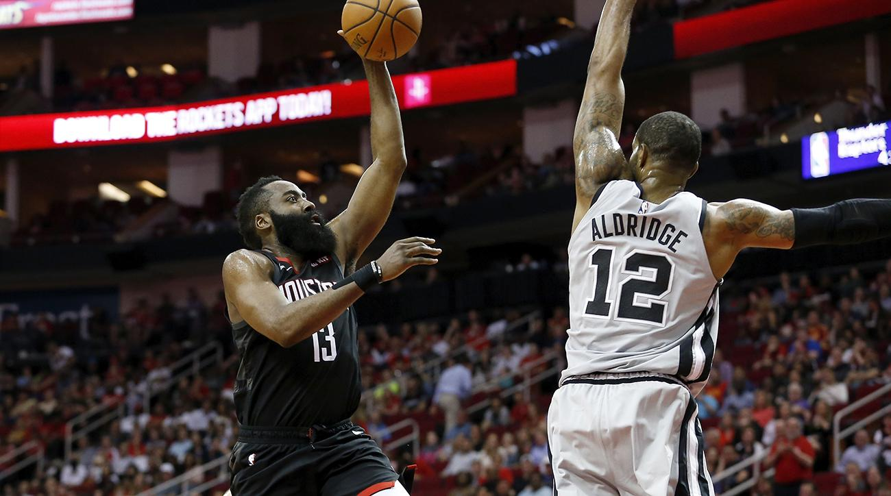 4aedf7eaea38 James Harden ties career high with 61 in Rockets win over Spurs