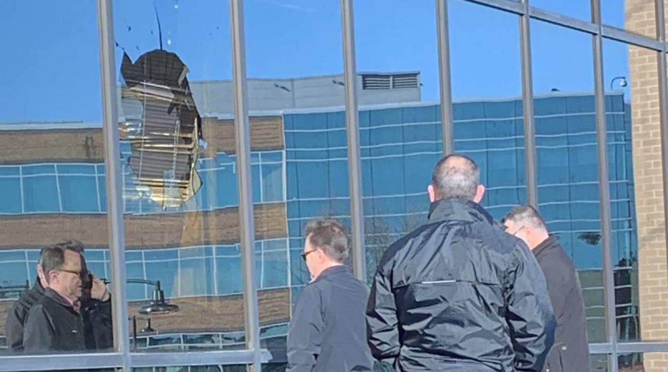 Stephen A Smith: Bird crashes into ESPN office (photos)