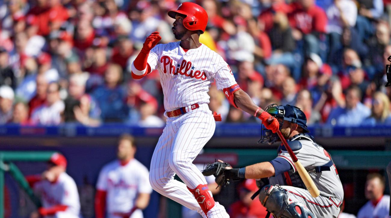 Andrew McCutchen homered in his first at-bat with the Philadelphia Phillies