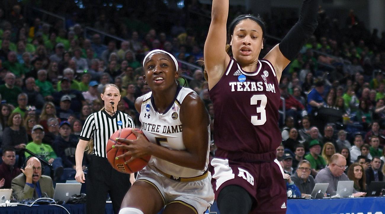 NCAA BASKETBALL: MAR 30 Div I Women's Championship - Third Round - Notre Dame v Texas A&M