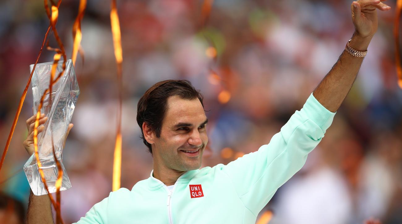 Roger Federer Miami Open masters john isner