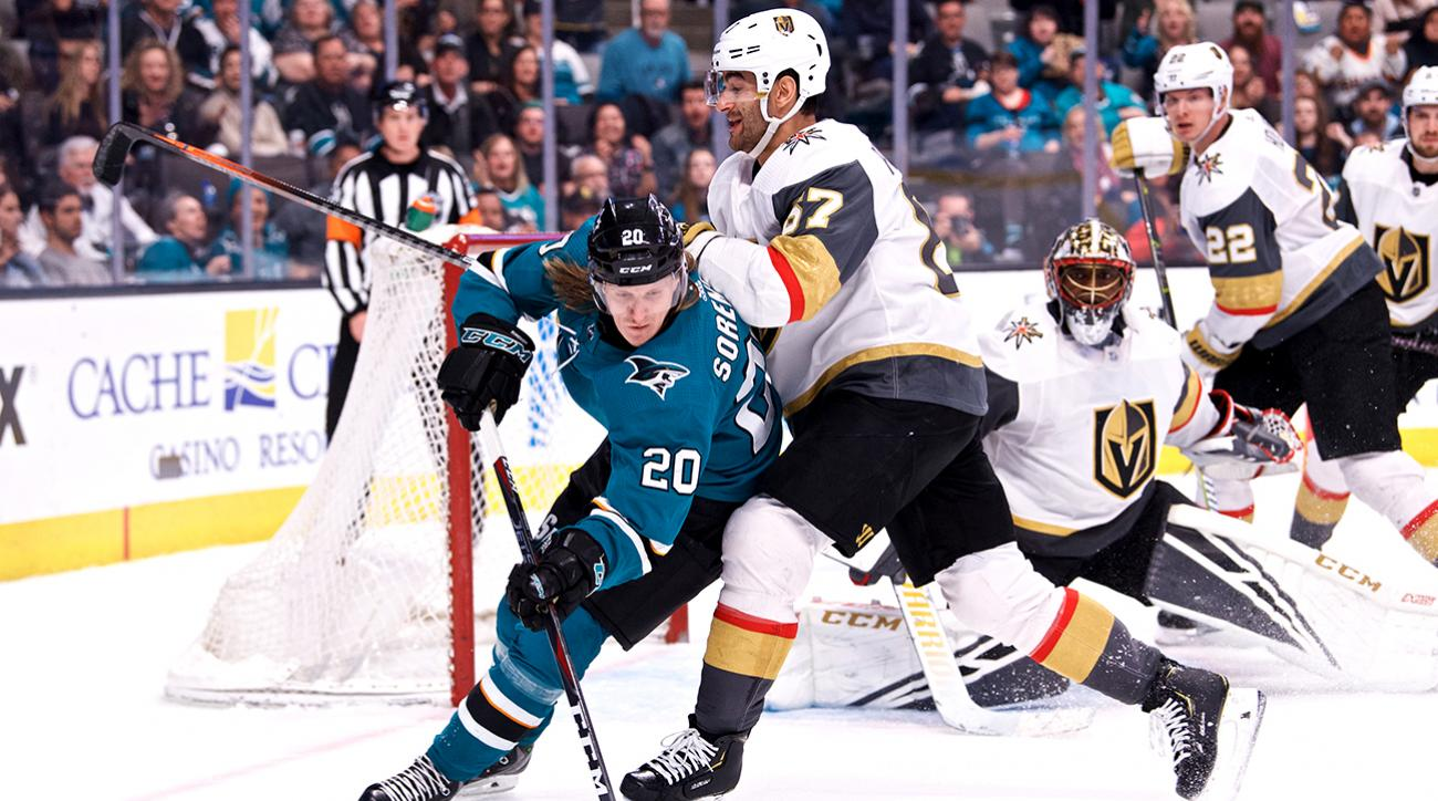 NHL: MAR 30 Golden Knights at Sharks