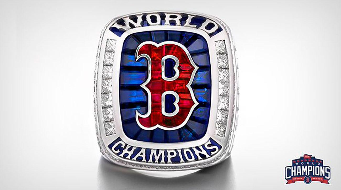 Red Sox receive World Series rings in pregame ceremony