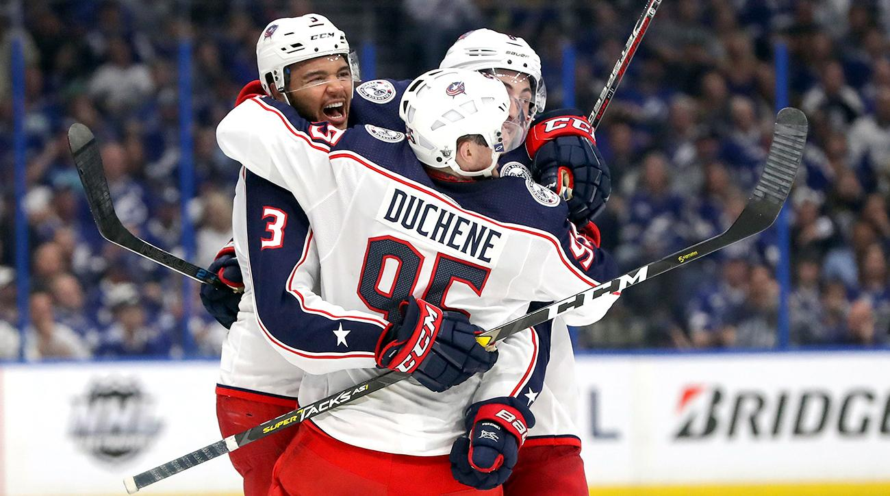 Blue Jackets stun Lightning, head home with 2-0 series lead