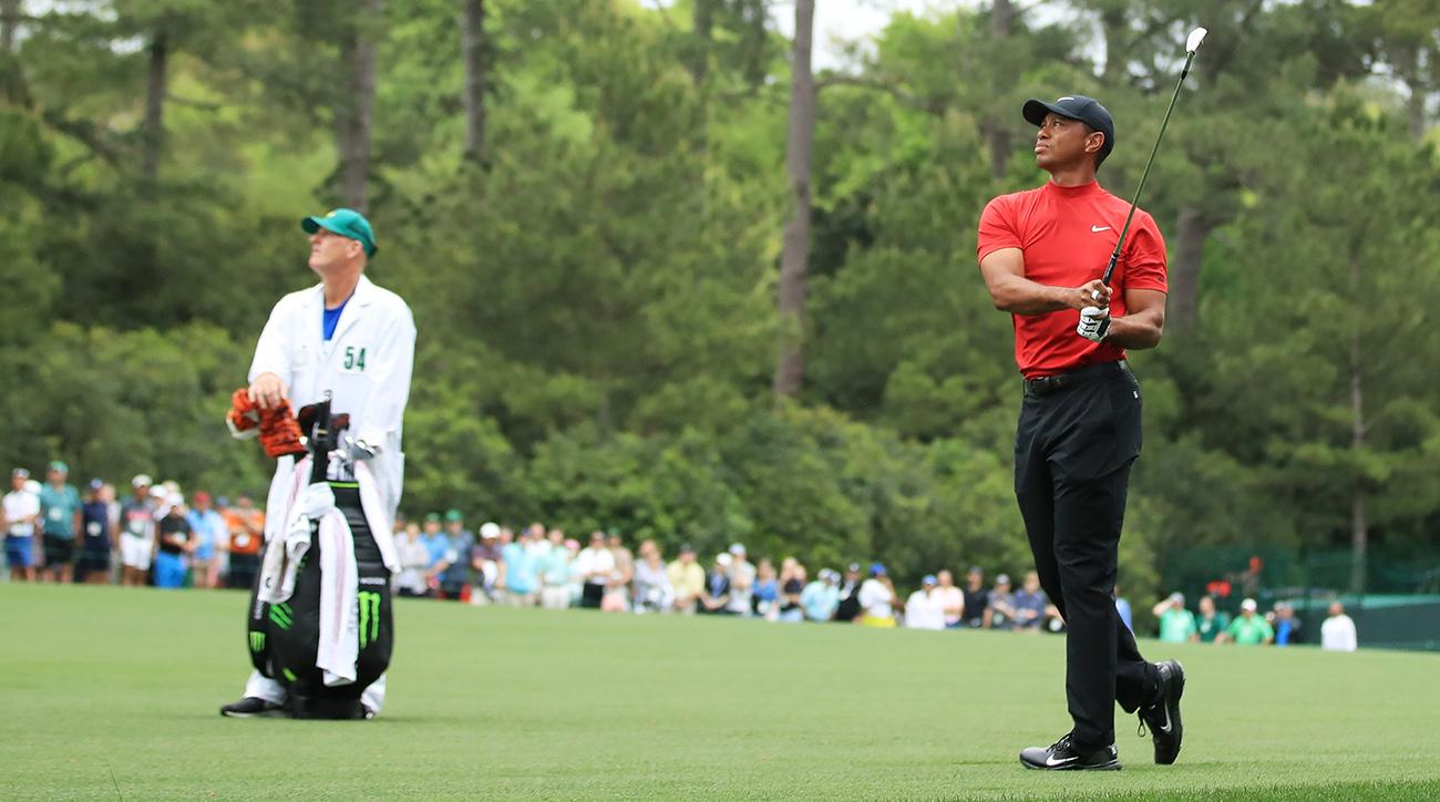 tiger woods masters live updates  lurking close behind