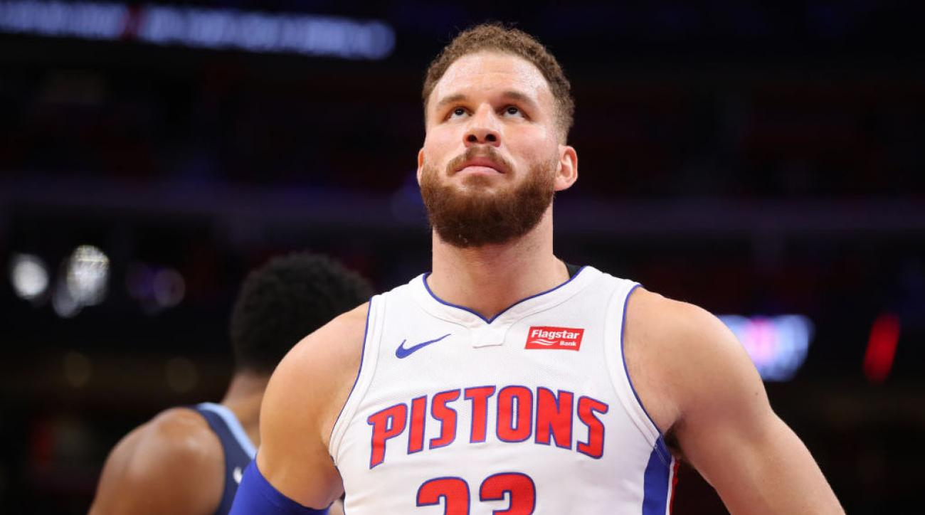 size 40 417fa 3c95a Blake Griffin knee injury: Pistons star likely out for ...