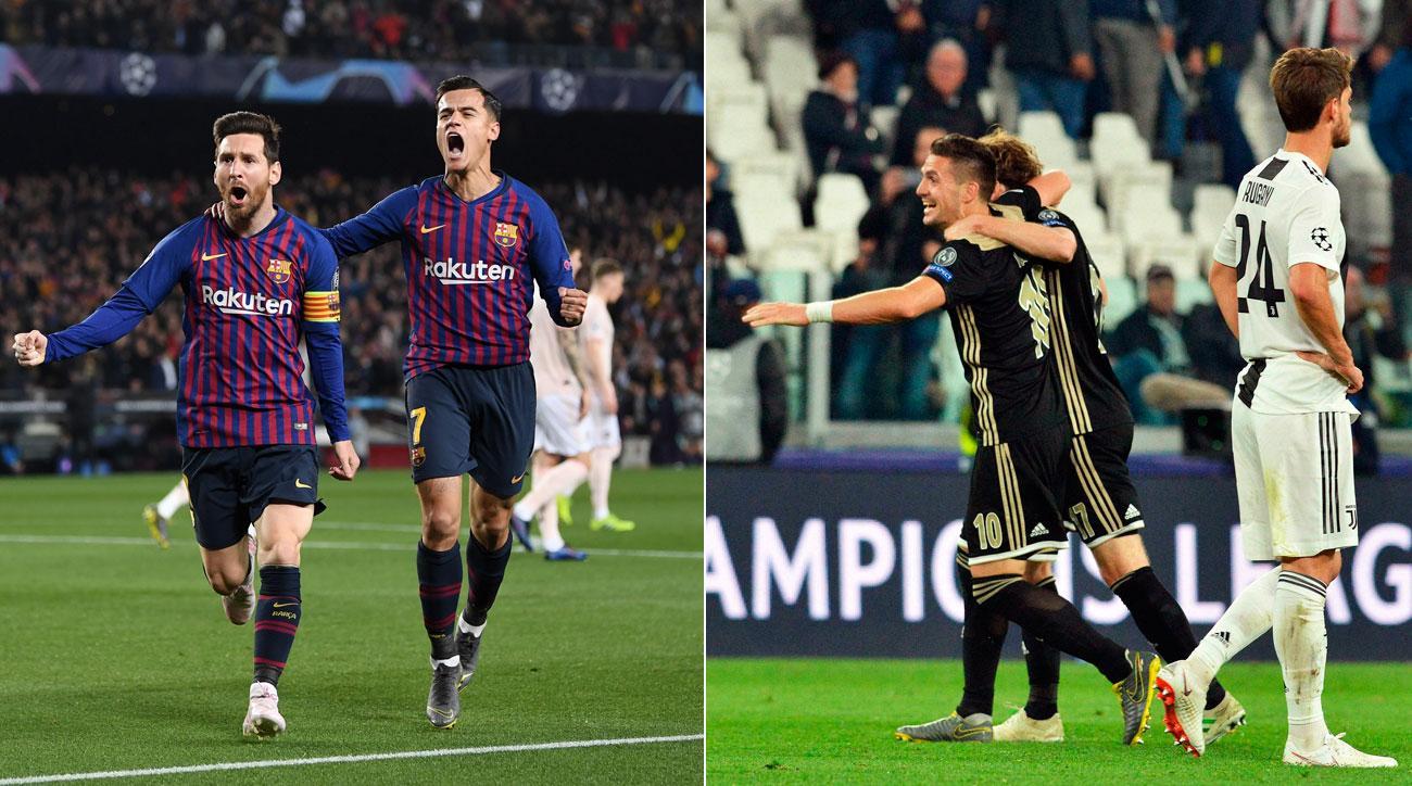 04130b4b3c3 Champions League  Ajax stuns Juventus  Messi sparks Barcelona