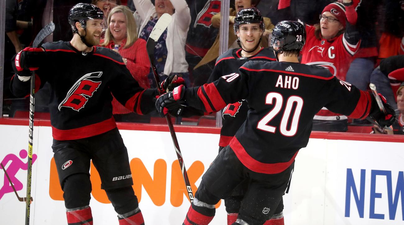 Hurricanes Survive Capitals' Late Surge to Pull Even in Series