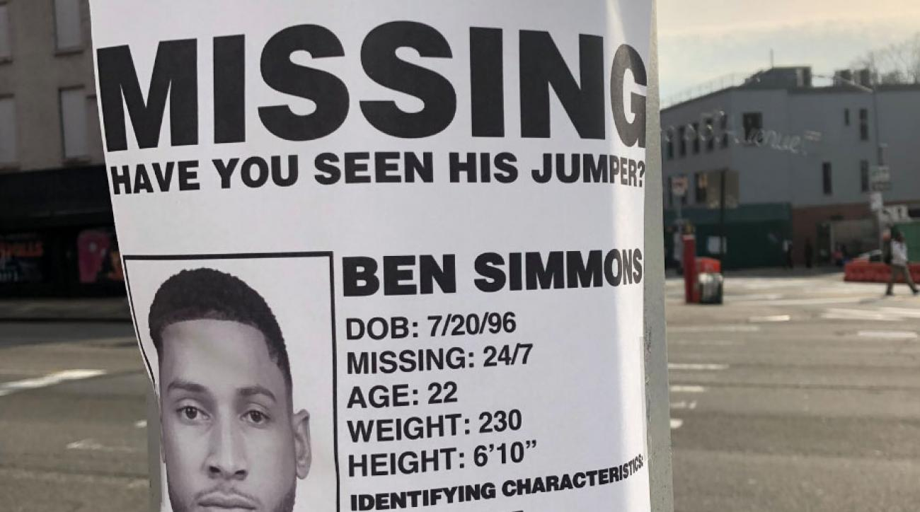 Ben Simmons 'Missing Jumper' Poster Shows Nets Fans Are Ready for Postseason Trash Talk