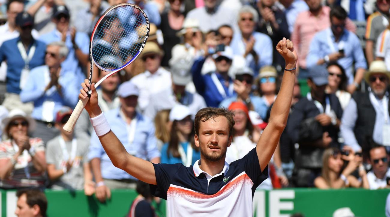 Daniil Medvedev Novak Djokovic Monte Carlo Masters