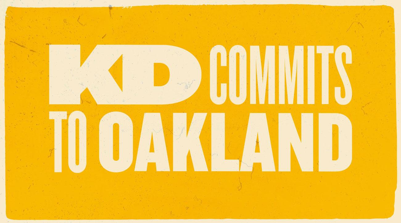 A's Take Dig at Warriors With 'KD Commits to Oakland' Ad After Khris Davis Signs Extension
