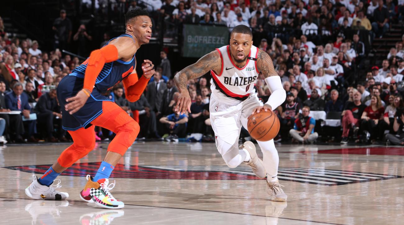 Damian Lillard Erupts for 34 Points in First Half vs. Thunder, Sets Franchise Record