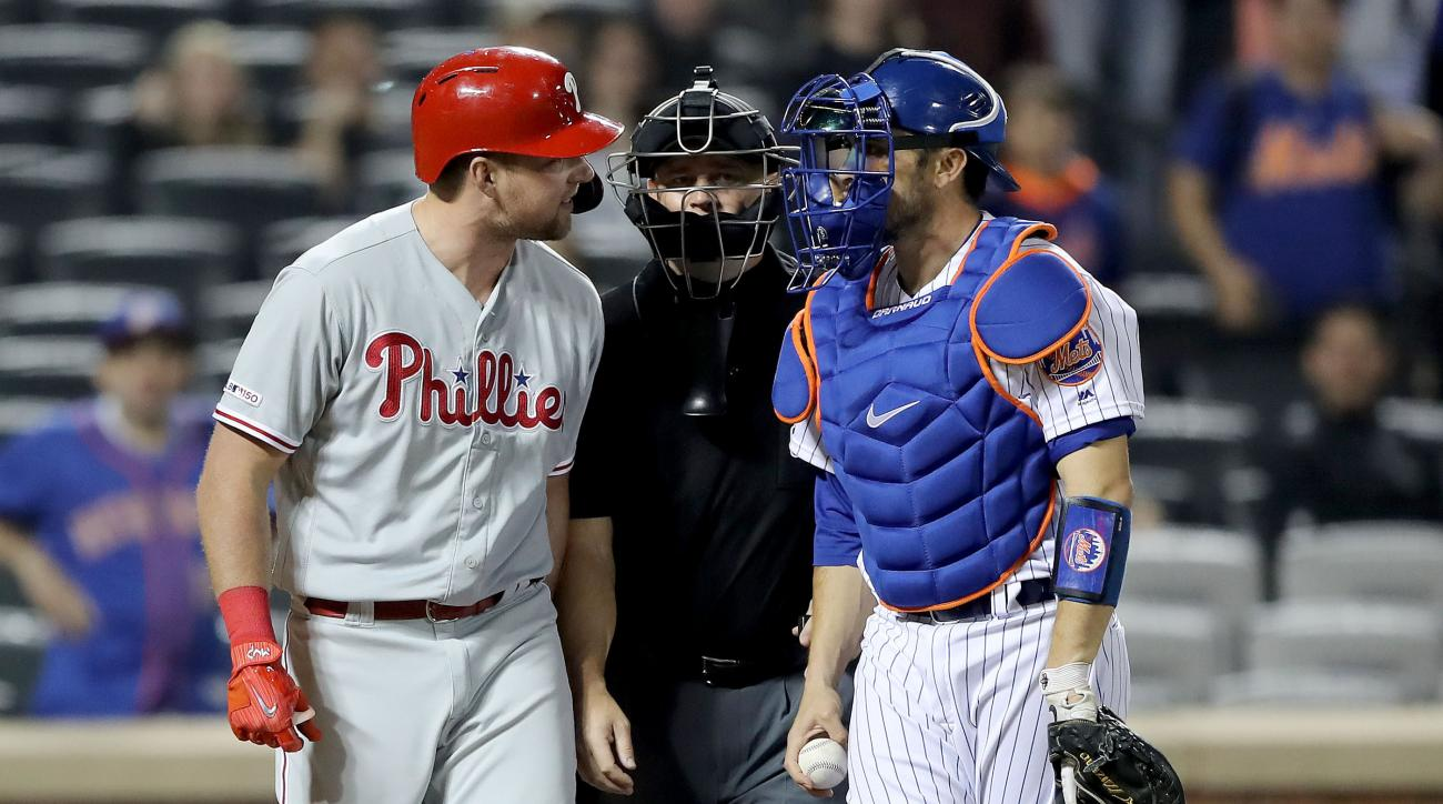 Rhys Hoskins taunts Mets' Jacob Rhame after homer (video)