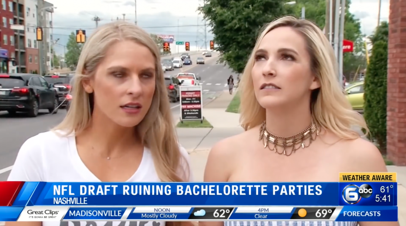 Nashville bachelorette parties ruined by NFL draft (video)