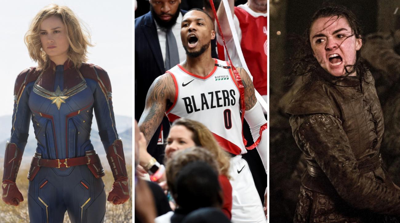 Damian Lillard's heroics vs Captain Marvel and Arya Stark's
