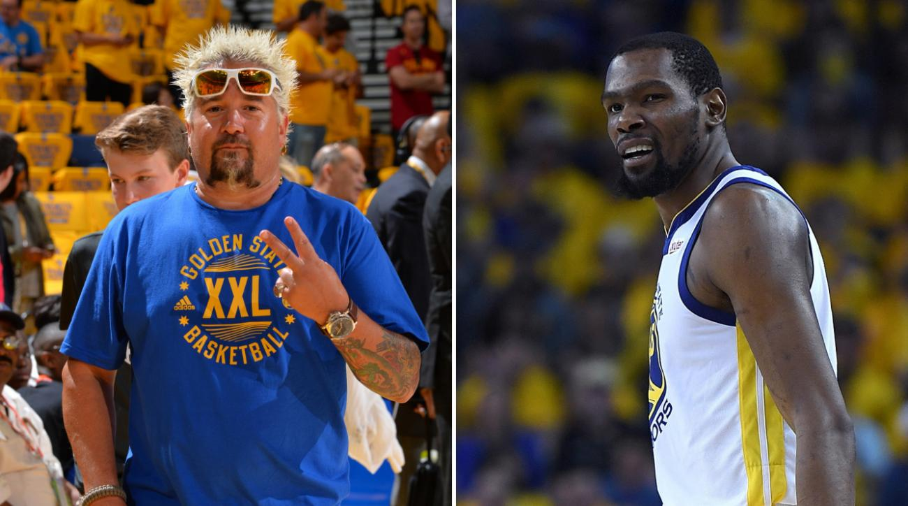 Kevin Durant free agency: Guy Fieri offers to cook for Warriors F