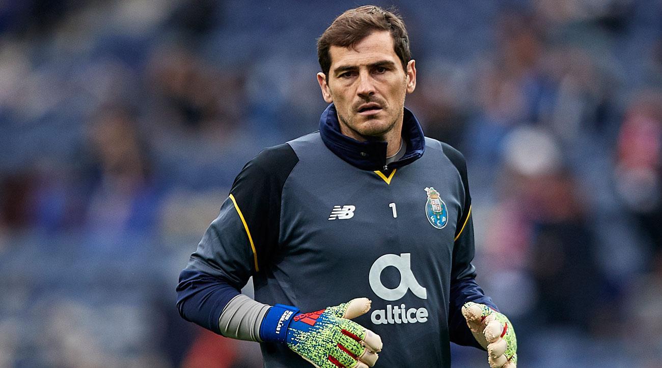 Iker Casillas suffered a heart attack at Porto training