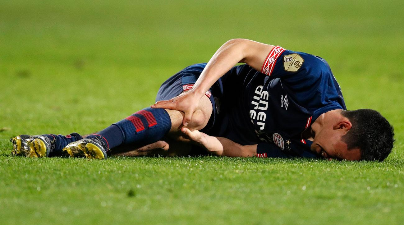 Image result for hirving lozano's injury