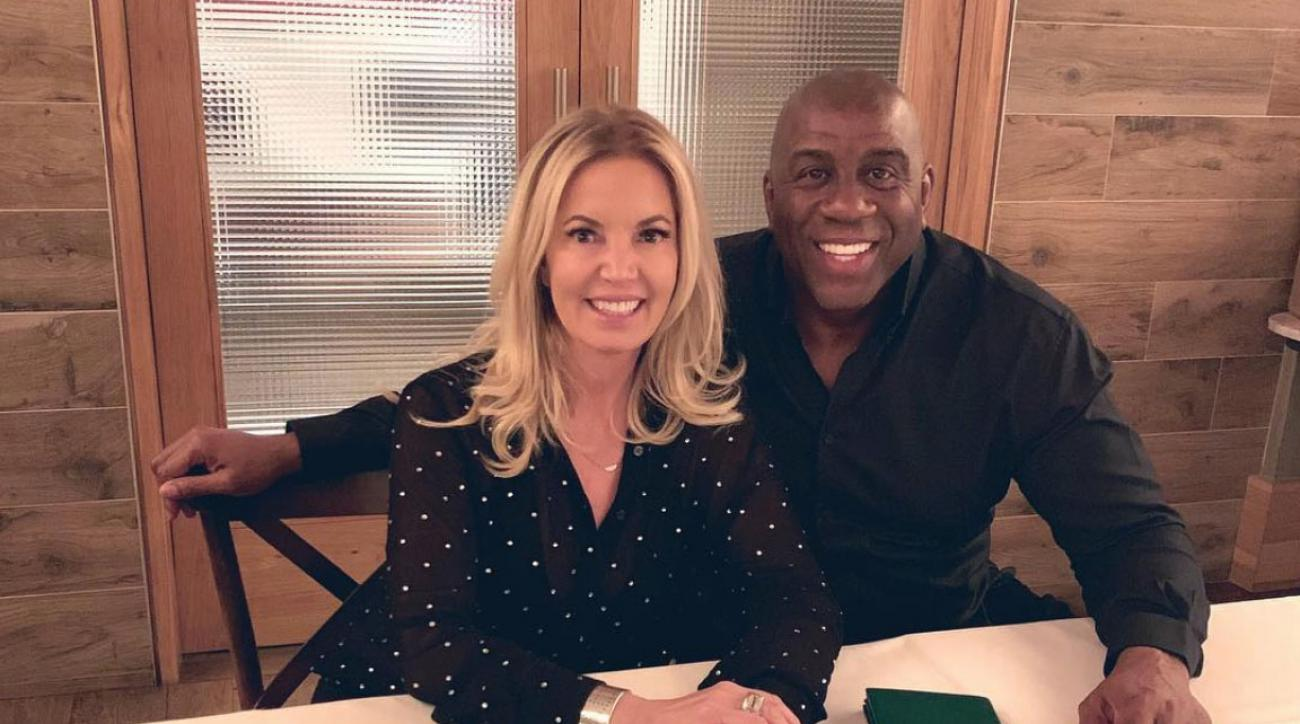 Magic Johnson and Jeanie Buss have dinner