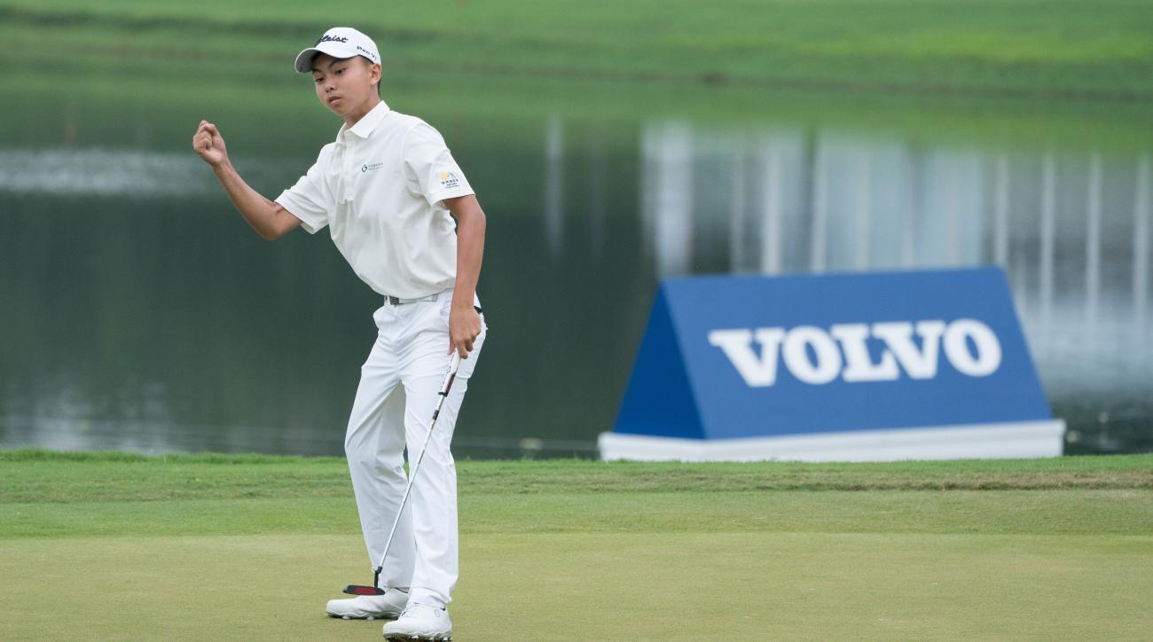 Watch: 14-Year-Old Yang Kuang Drains Birdie on 18 to Make Cut in European Tour Debut