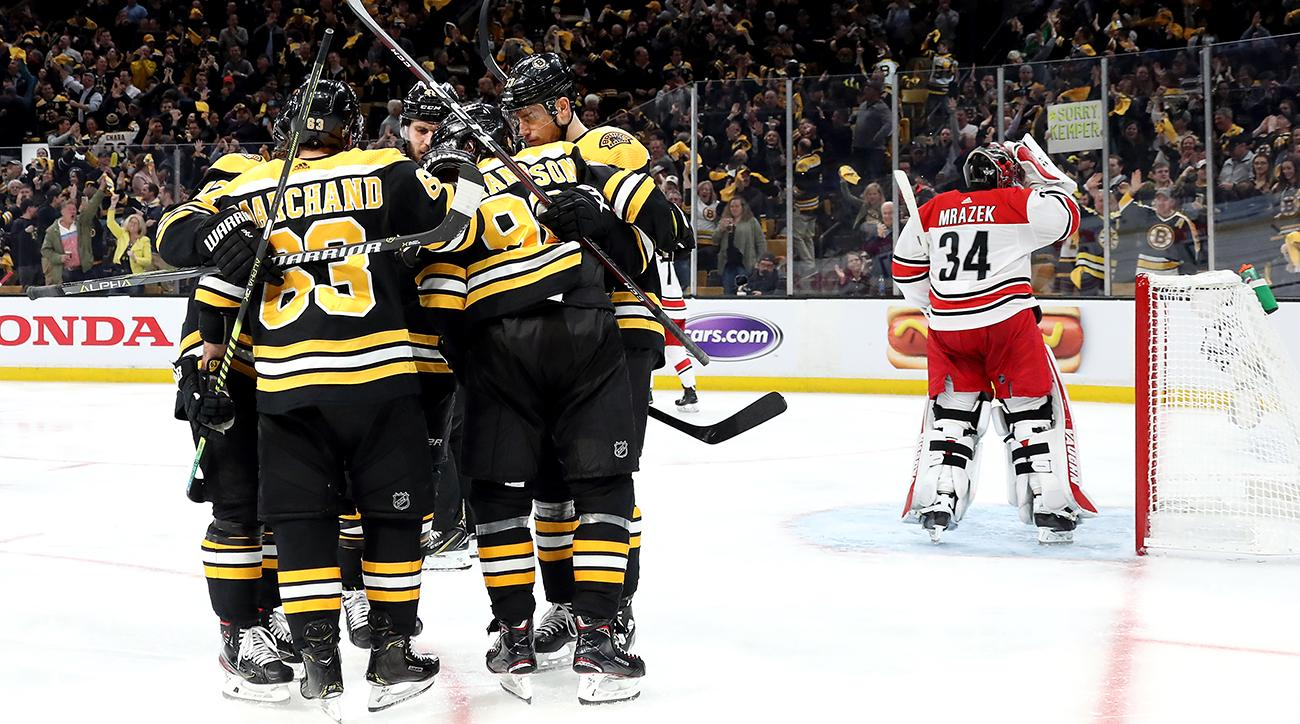 NHL Playoffs: Bruins Win Game 1 Vs Hurricanes In Eastern