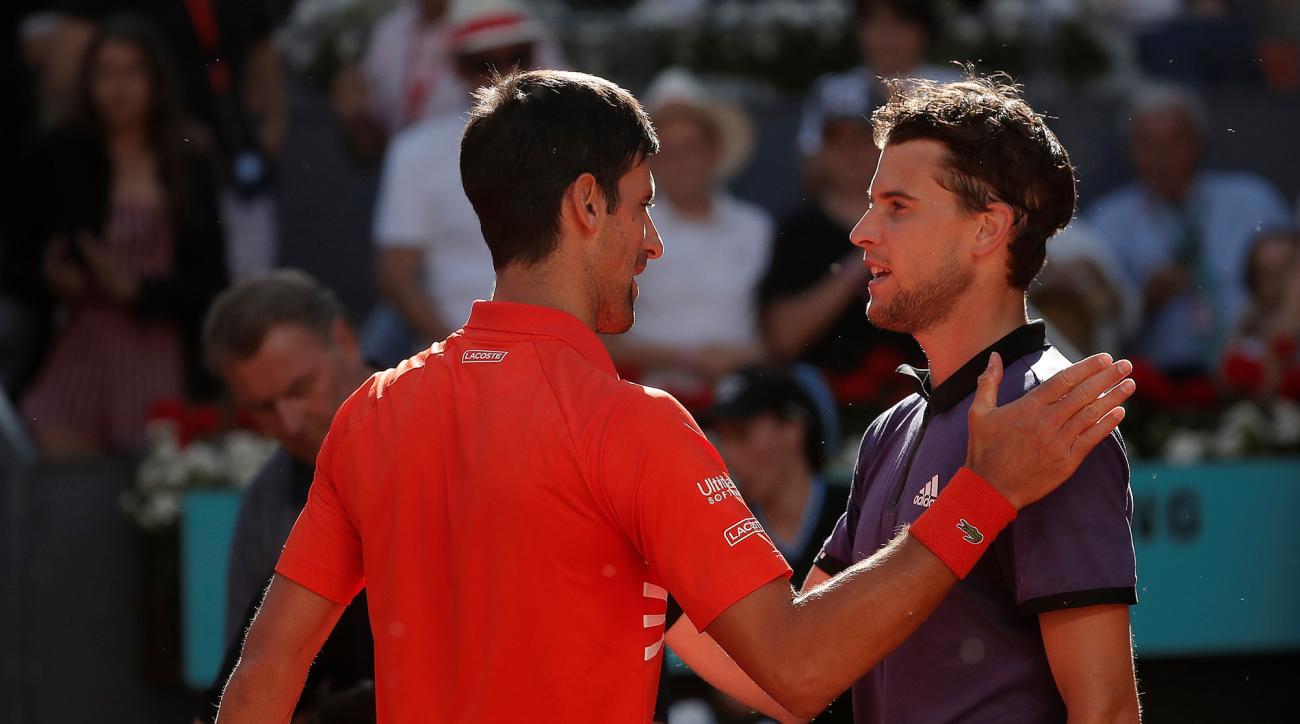 Dominic Thiem Novak Djokovic Madrid Open