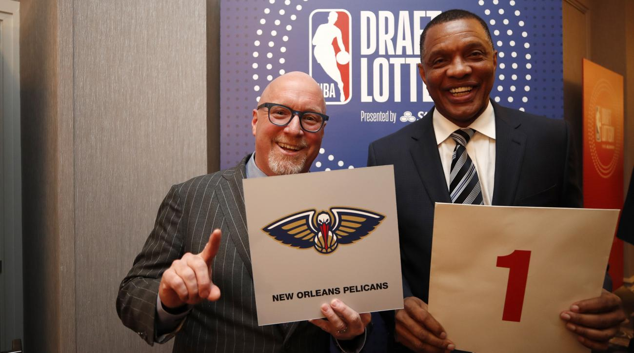 Pelicans win NBA draft lottery thanks to David Griffin's tie