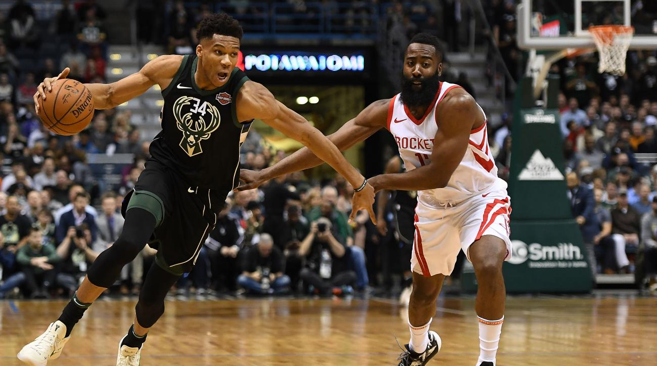Giannis Antetokounmpo, James Harden, Paul George Nominated as MVP Finalists