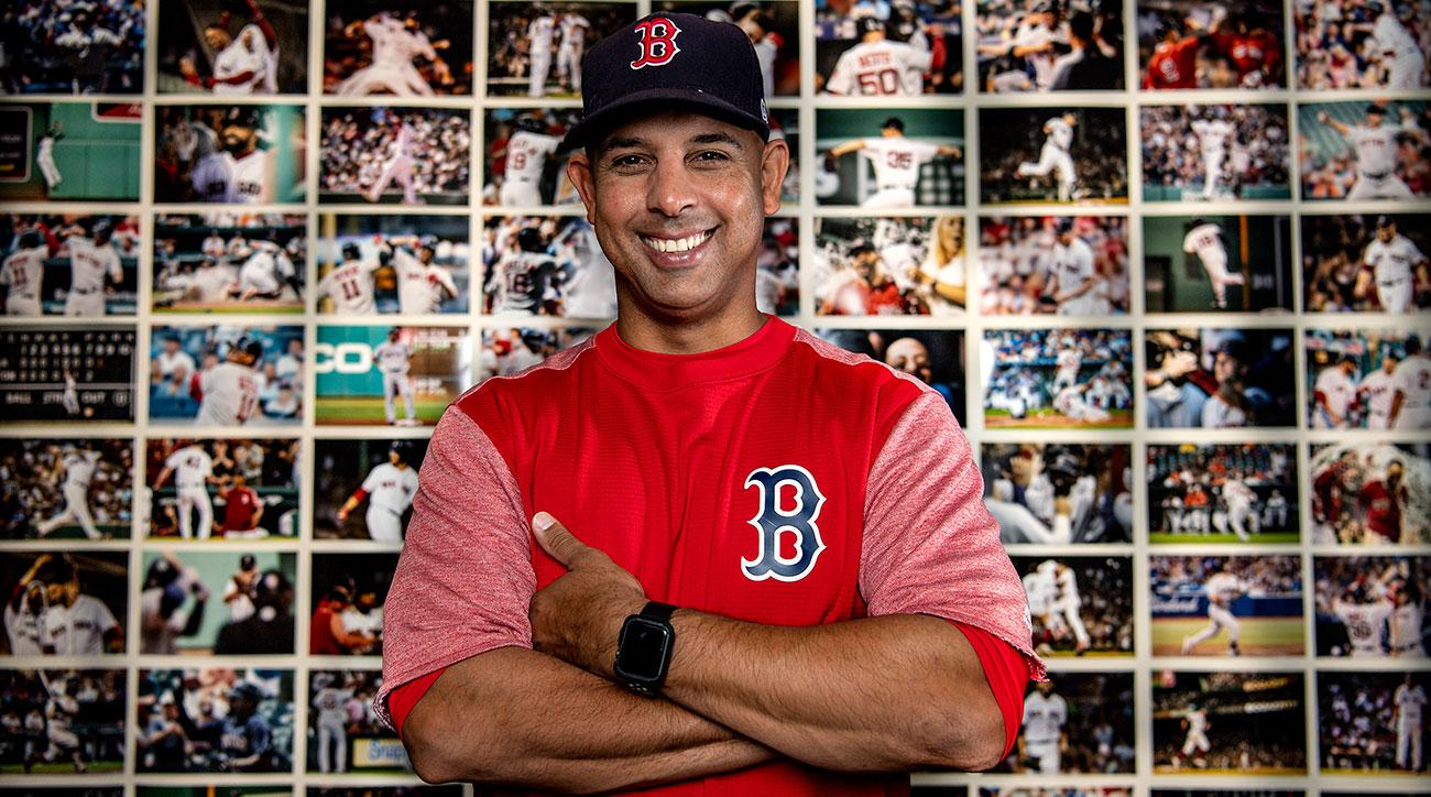 alex cora wall of wins auctioned