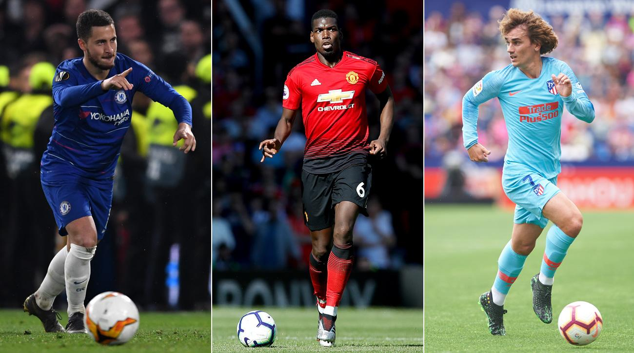 Eden Hazard, Paul Pogba and Antoine Griezmann could all be on the move this summer