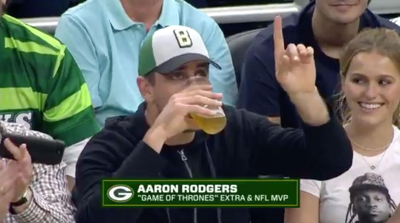 Aaron Rodgers is Really Bad at Chugging Beer
