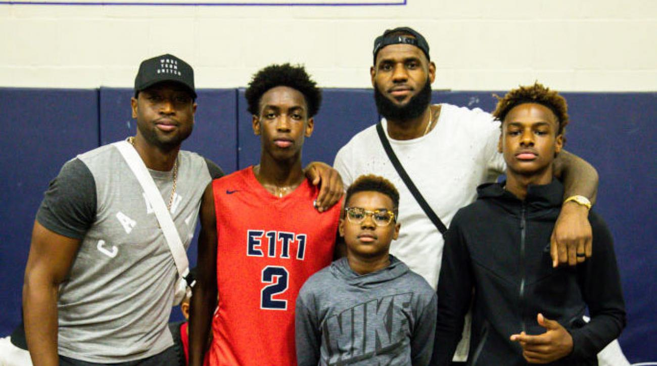 Report: Zaire Wade, LeBron James Jr. Teaming Up at Sierra Canyon High School