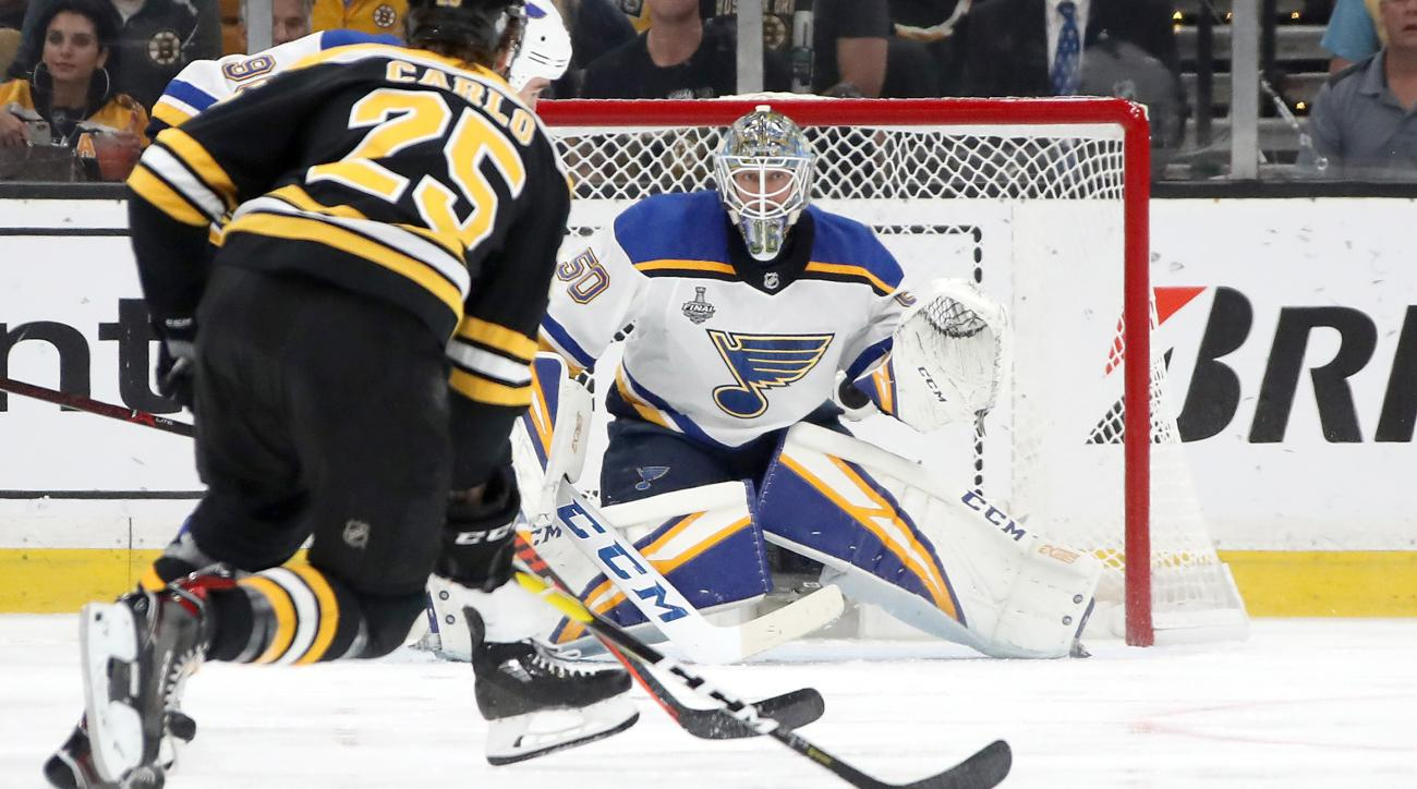 Louis paper trolls Bruins after Blues steal Game 5