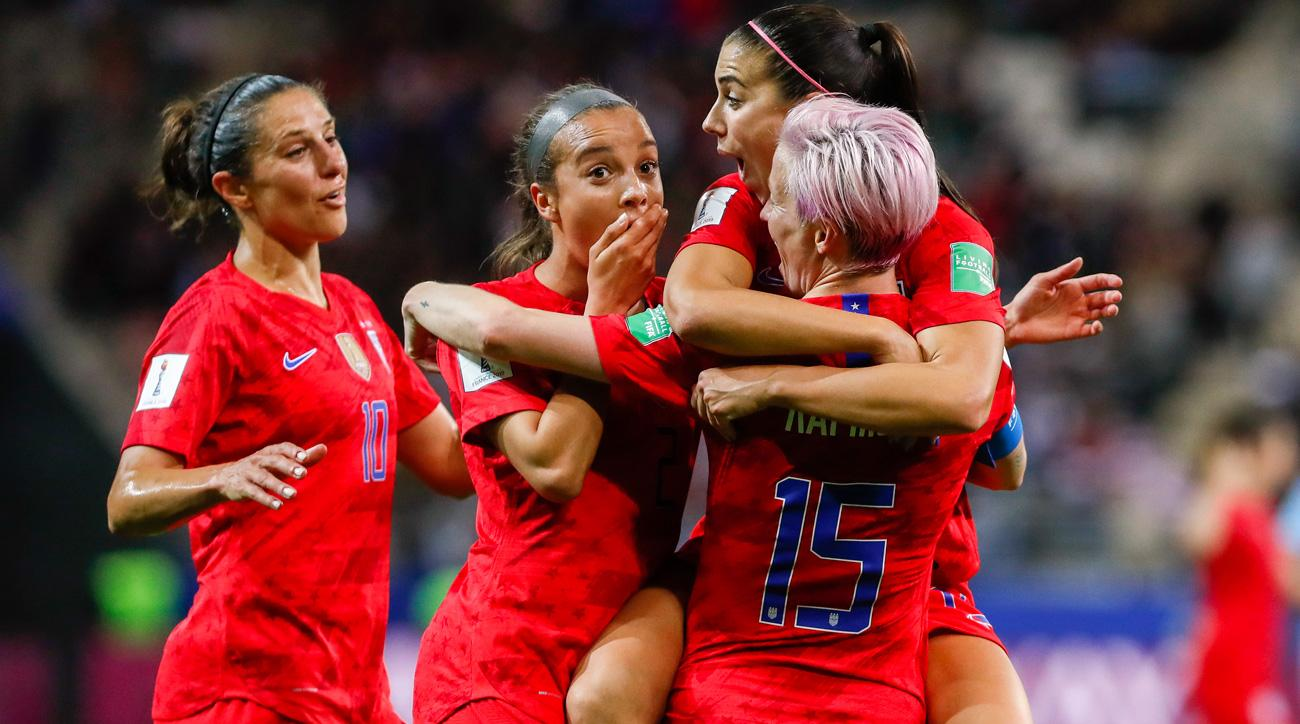 The USWNT thrashes Thailand 13-0 at the Women's World Cup