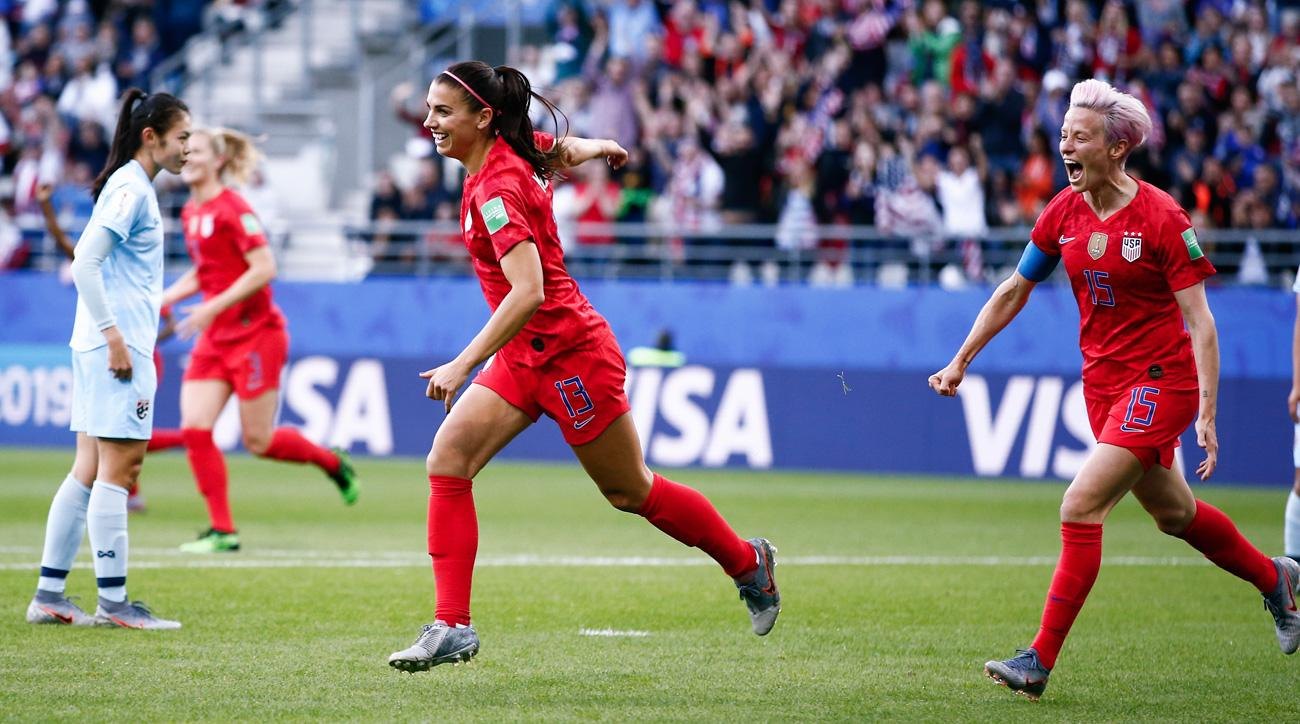 Alex Morgan scores five goals in a 13-0 rout of Thailand