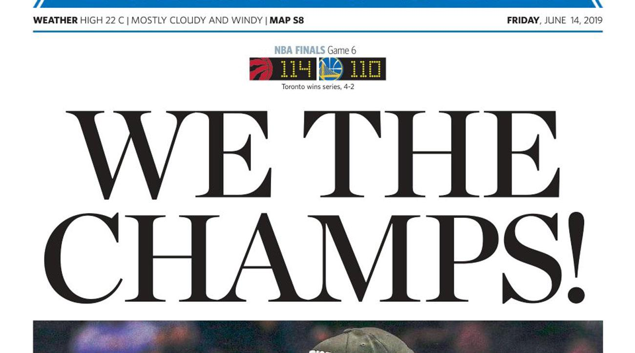 Toronto Newspapers Celebrate Raptors' NBA Championship Win