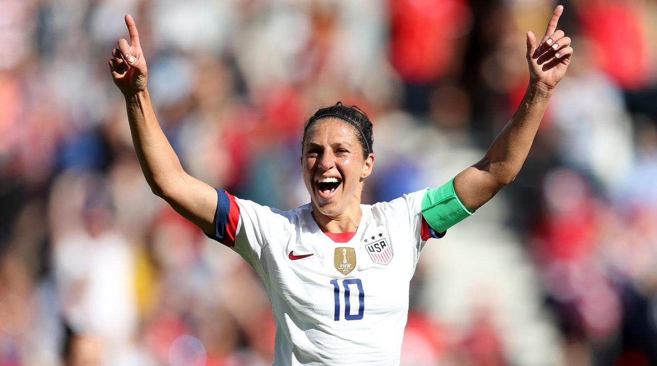 Carli Lloyd has scored three goals in two games at the 2019 Women's World Cup