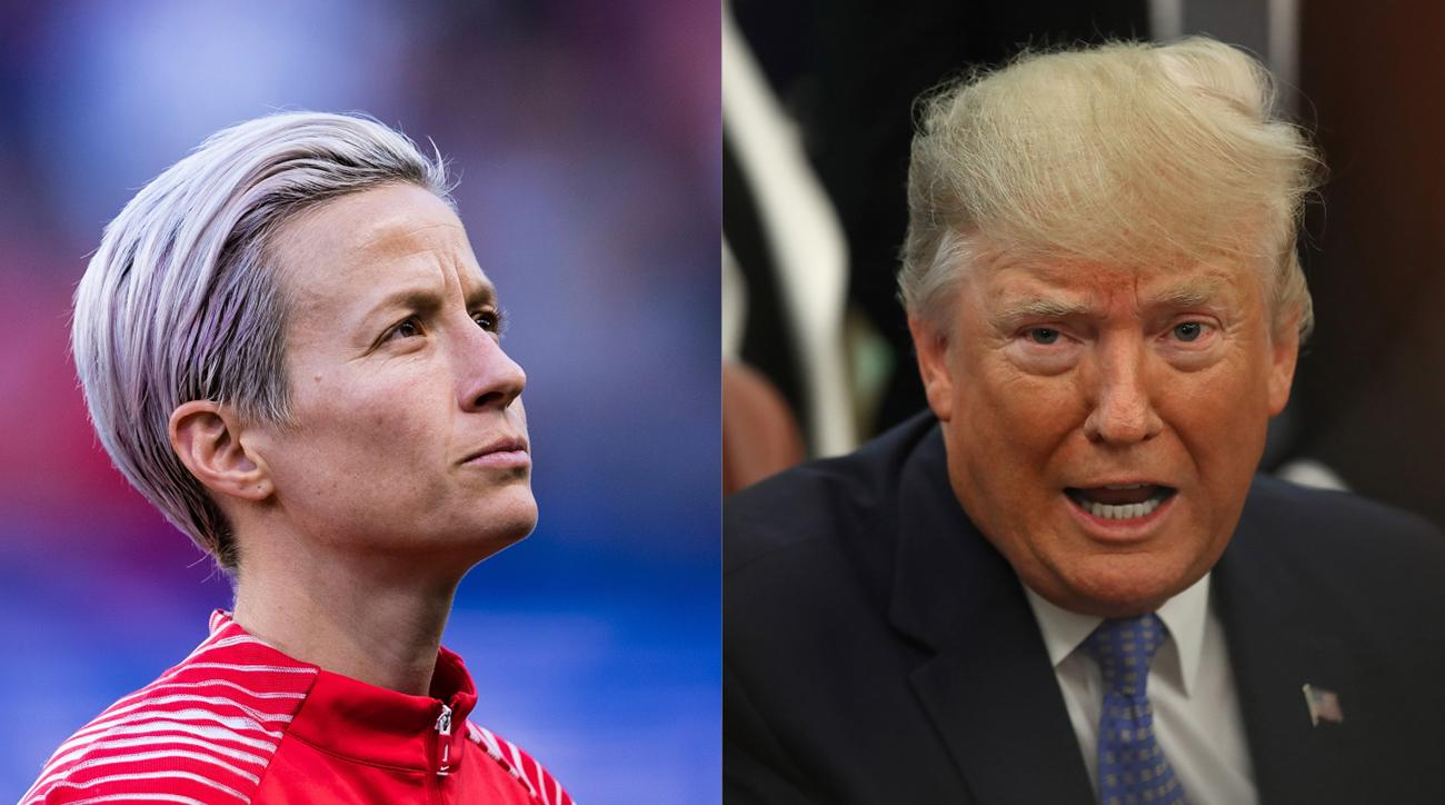 Donald Trump Calls Out Megan Rapinoe, Invites USWNT to White House Win or Lose